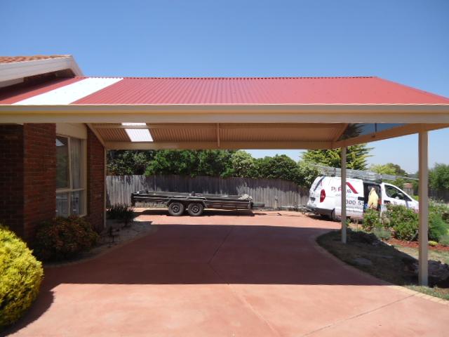 Custom designed steel colorbond carports for Victorian carport