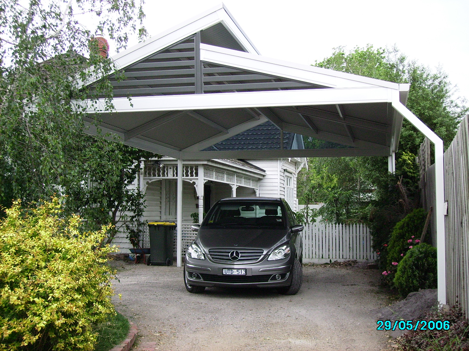Roof styles pergolas plus for Modern carport designs plans