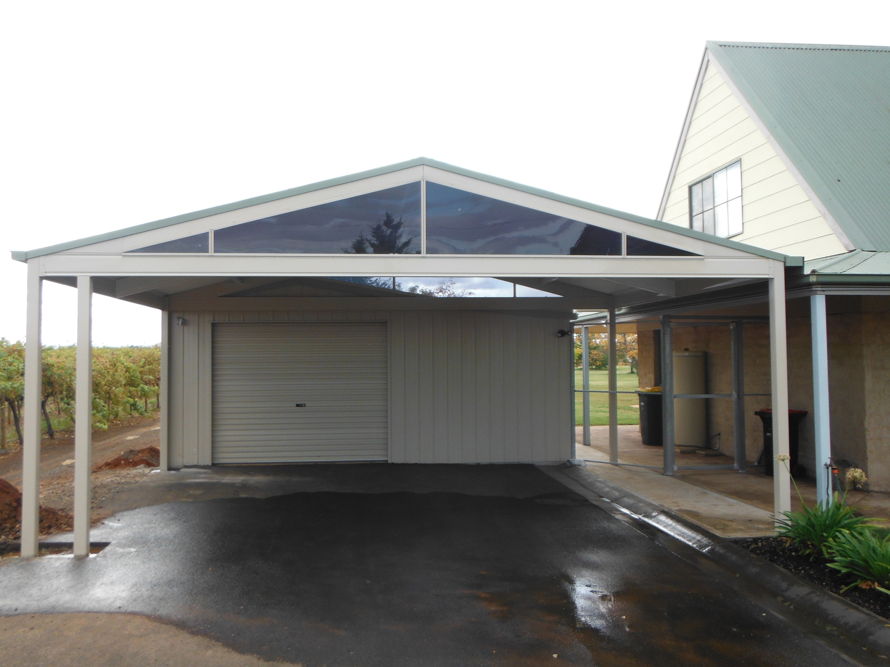 custom designed steel colorbond carports. Black Bedroom Furniture Sets. Home Design Ideas
