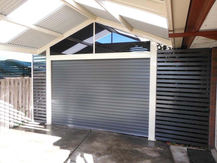 Carport With Roller Door 1 Pergolas Plus