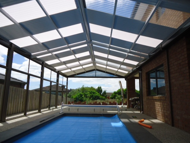 Spa and pool enclosure for Pool design geelong